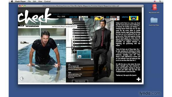 "Exploring the final ""developer"" version of the digital magazine: InDesign CS4: Interactive Documents and Presentations"