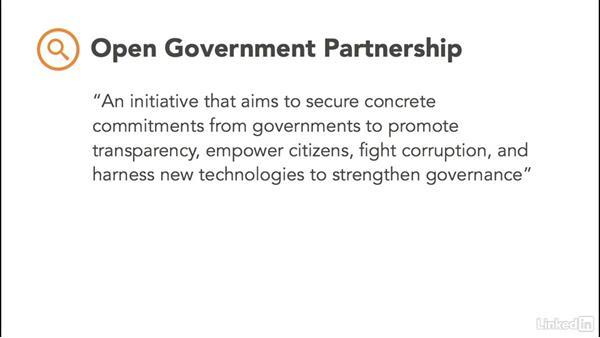 The Open Government Partnership (OGP): Open Data: Unleashing Hidden Value