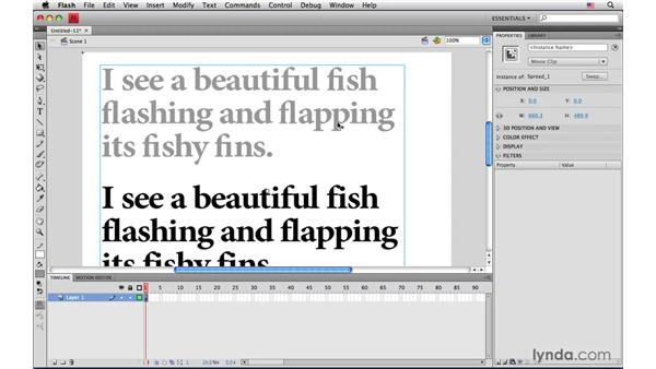 Avoid ligatures if you want to edit text later in Flash: InDesign CS4: Interactive Documents and Presentations