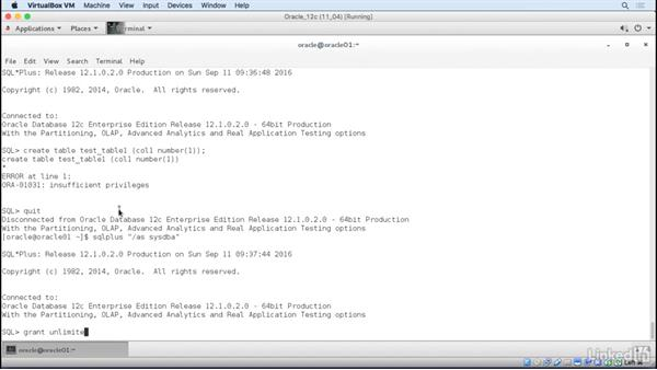 Create users and assign permissions: Oracle 12c Database Administration Fundamentals