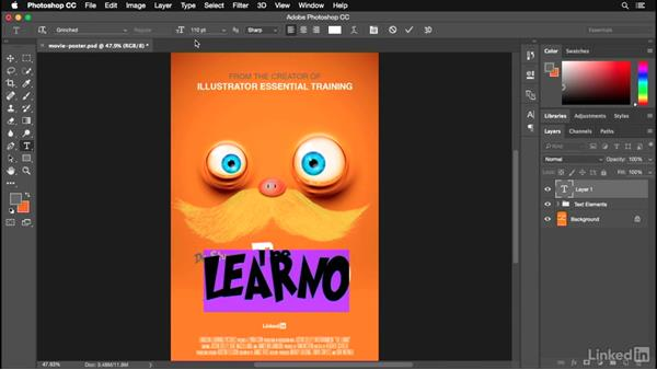 Setting your typography: Photoshop for Designers: Practical 3D Designs