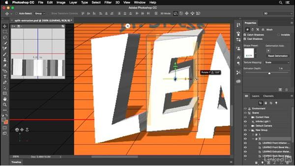 Splitting your extrusion into multiple 3D objects: Photoshop for Designers: Practical 3D Designs