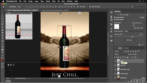 Rendering your product shot: Photoshop for Designers: Practical 3D Designs