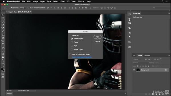 Importing your logo from Adobe Illustrator: Photoshop for Designers: Practical 3D Designs