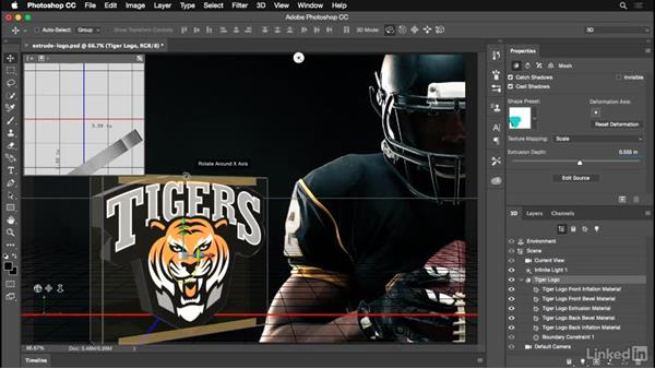 Extruding your logo into a 3D object: Photoshop for Designers: Practical 3D Designs