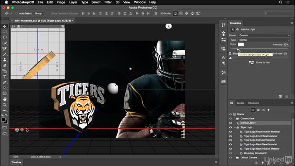 Applying metallic effects to your logo: Photoshop for Designers: Practical 3D Designs