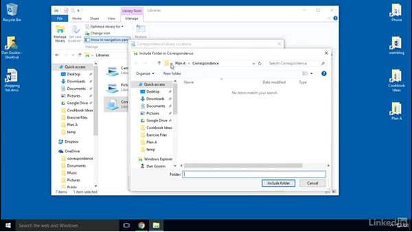 Solution: Building a library: Organizing Files and Folders in Windows 10