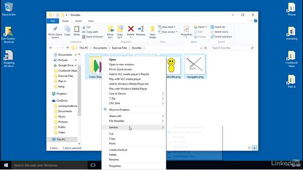 Solution: Creating an archive: Organizing Files and Folders in Windows 10
