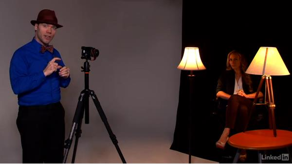 Using practical lights: Learn Portrait Photography: The Basics