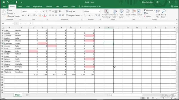 Apply conditional formatting to cells: Office 2016 for Educators