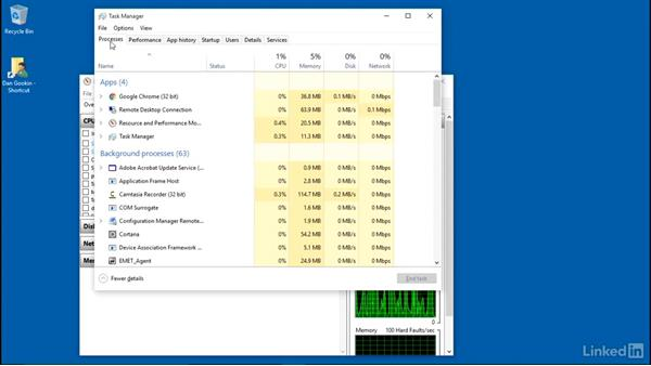 Monitoring system resources: PC Maintenance and Performance Fundamentals