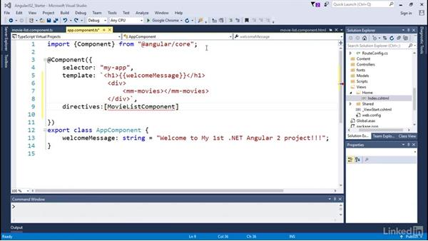 Using a directive from a component: Angular2 for .NET Developers