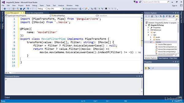 Creating custom pipes: Angular2 for .NET Developers