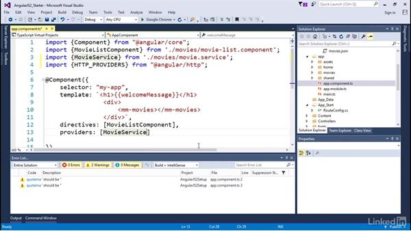 Setting up for HTTP requests: Angular2 for .NET Developers