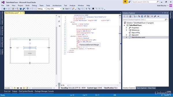 Optimal XAML editor settings: Windows Presentation Foundation 1: Build Dramatic Desktop Applications