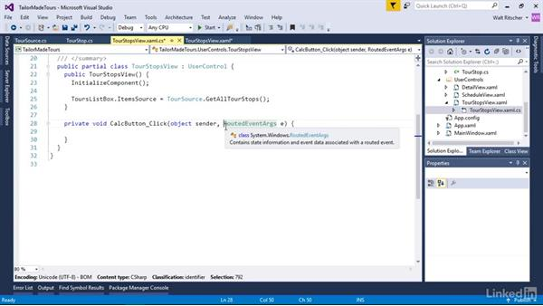 Write the interaction code for the application: Windows Presentation Foundation 1: Build Dramatic Desktop Applications