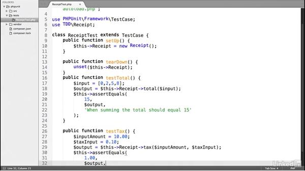 Write a test-driven development method: Test-Driven Development in PHP with PHPUnit