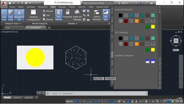 Using a tool palette: AutoCAD: Tool Palettes