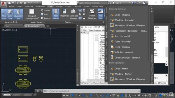 Creating tool palettes from DesignCenter: AutoCAD: Tool Palettes