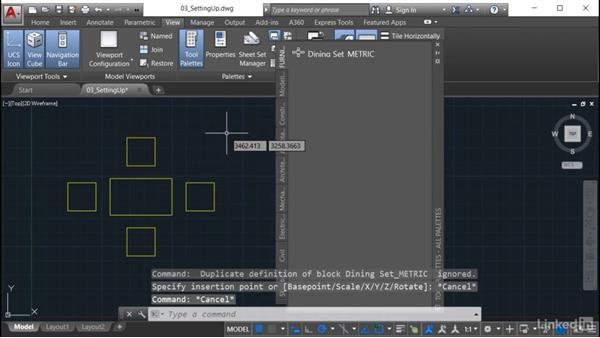 Putting blocks on a palette: AutoCAD: Tool Palettes
