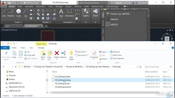 Putting DWGs on a palette: AutoCAD: Tool Palettes