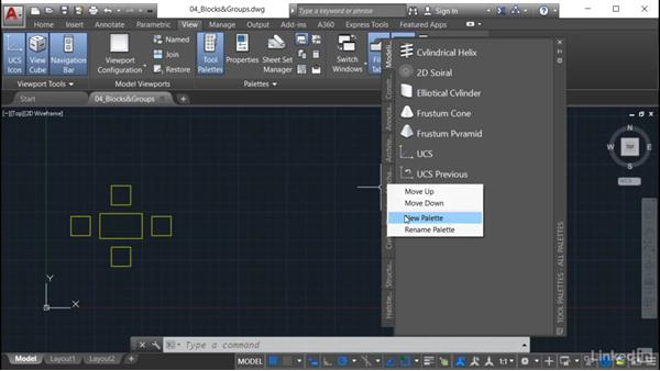 Creating a new block palette: AutoCAD: Tool Palettes