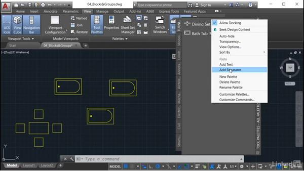 Setting palette properties: AutoCAD: Tool Palettes