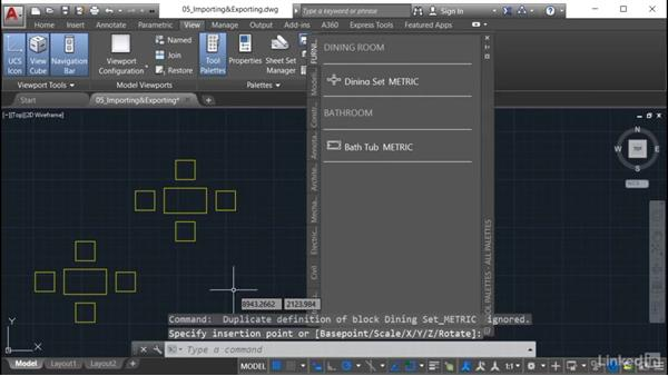Importing a tool palette: AutoCAD: Tool Palettes