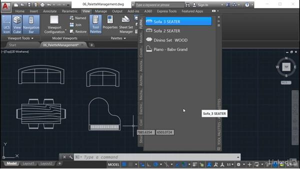 Palettes and paths: AutoCAD: Tool Palettes