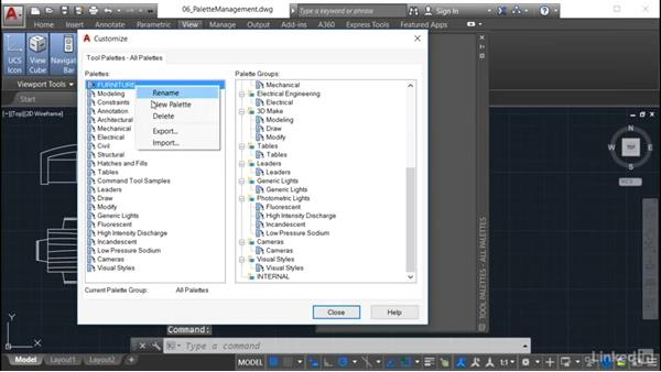 Sharing palettes: AutoCAD: Tool Palettes