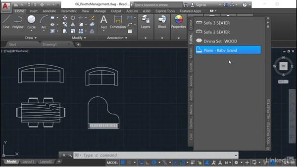 Locking tool palette content: AutoCAD: Tool Palettes