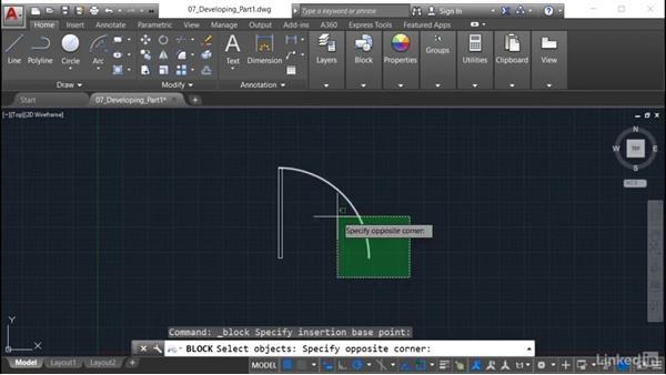 Creating a basic dynamic block: AutoCAD: Tool Palettes