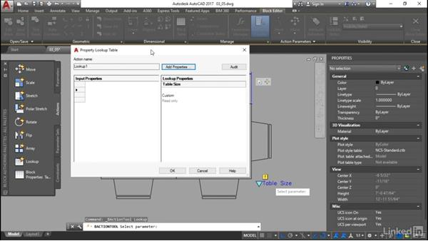 Properties and tables: Customization for CAD Managers