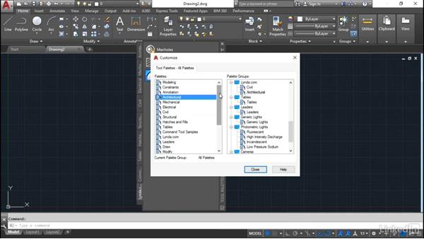 Palette groups: Customization for CAD Managers
