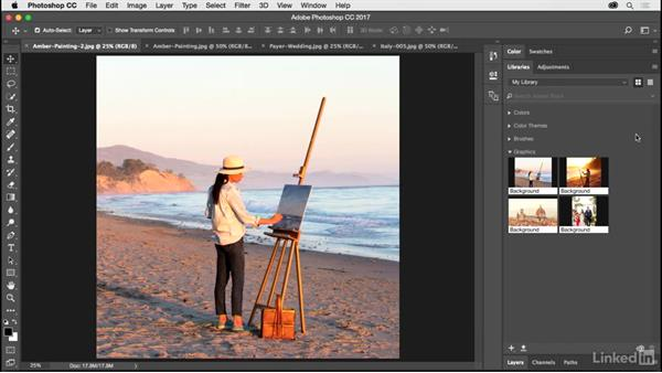 Updated Library panel: Photoshop CC 2017 for Photographers: New Features