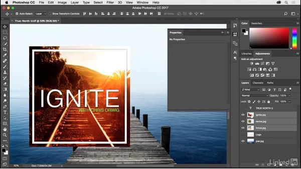 Resizing images with the Properties panel: Photoshop CC 2017 for Photographers: New Features