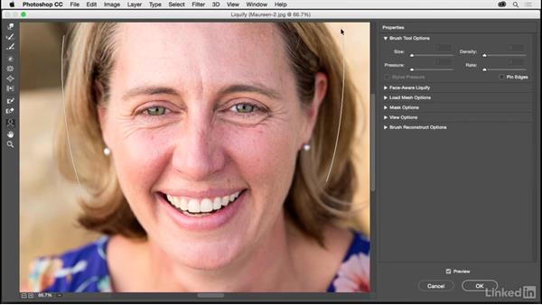 Face-Aware Liquify improvements: Photoshop CC 2017 for Photographers: New Features