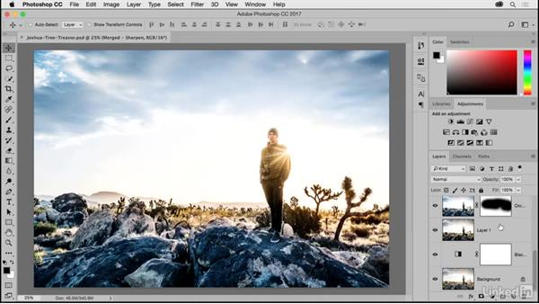 Turning on the accent color: Photoshop CC 2017 for Photographers: New Features