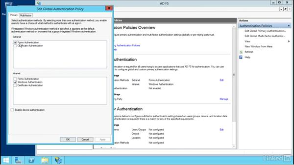 Configure authentication policies: Windows Server 2012 R2: Configure Identity and Access Solutions