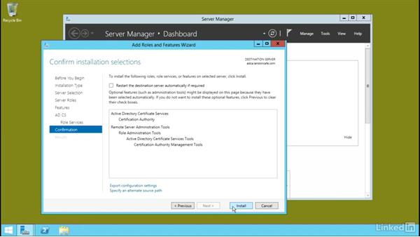 Install an enterprise certificate authority (CA): Windows Server 2012 R2: Configure Identity and Access Solutions