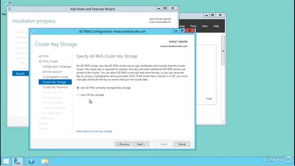 Register and manage AD RMS service connection point (SCP): Windows Server 2012 R2: Configure Identity and Access Solutions