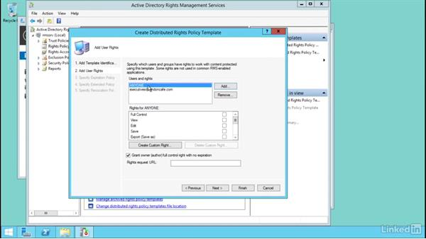 Manage AD RMS templates: Windows Server 2012 R2: Configure Identity and Access Solutions