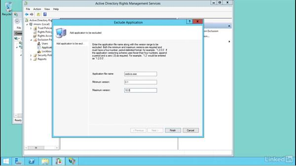 Configure exclusion policies: Windows Server 2012 R2: Configure Identity and Access Solutions