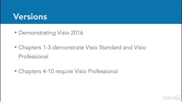 What you should know before watching this course: Advanced Visio: Working with Data