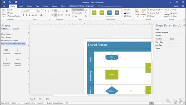 Which shapes contain data? Part 1: Advanced Visio: Working with Data