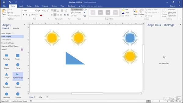 Reuse shape data fields: Advanced Visio: Working with Data