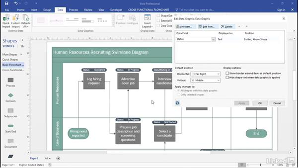 Visualize data with text callouts: Advanced Visio: Working with Data