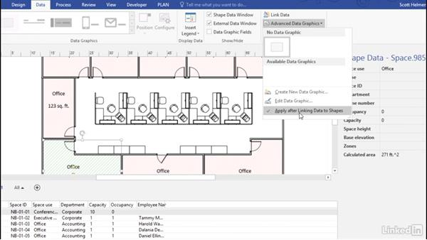 Link to data in a database: Advanced Visio: Working with Data