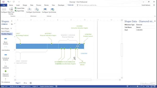 Build A Timeline From A Project Plan - Timeline template visio