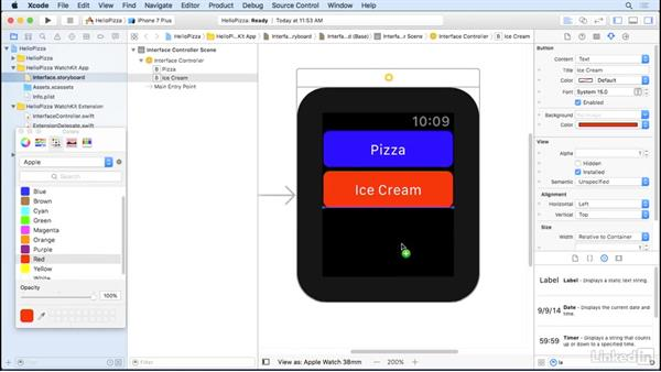 Interface builder for interfaces: Learning Apple watchOS 3 App Development
